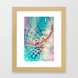 The Object Of Basketball Framed Art Print
