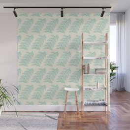 Pinnated Compound Leaves Pattern Wall Mural