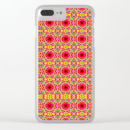 Jelly Arcade Pattern Clear iPhone Case