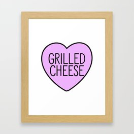 Love Grilled Cheese Framed Art Print