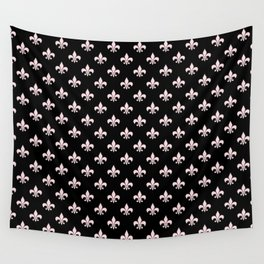 Black & Pale Pink Chic Wall Tapestry