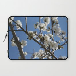 Cherry Blossom Branches Against Blue Sky Laptop Sleeve