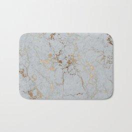 Stylish blush teal gold elegant abstract marble Bath Mat