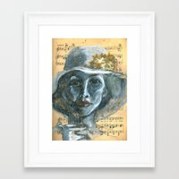 cafe Framed Art Prints featuring Cafe by Spinning Daydreams