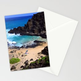 "Forbidden, ""NO TRESPASSING"" Beach in Oahu, Hawaii Stationery Cards"