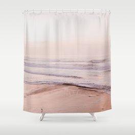 Dreamy Pink Pacific Beach Shower Curtain
