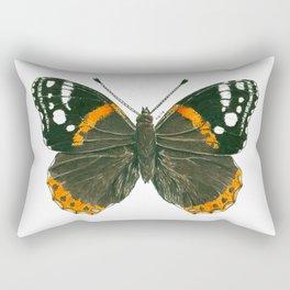 Admiral butterfly ink illustration Rectangular Pillow