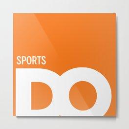 Cropped D.O. Sports Logo Metal Print