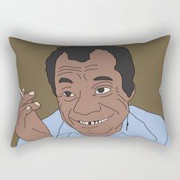 If James Baldwin Could Talk Rectangular Pillow