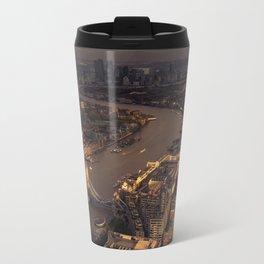 Thames Meander Cityscape Travel Mug