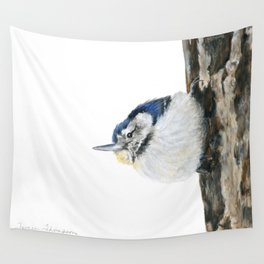 Cutie Pie the Nuthatch by Teresa Thompson Wall Tapestry