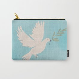 Dove of Peace with Olive Branch Carry-All Pouch