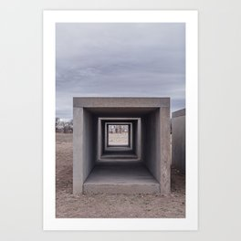 Donald Judd's Concrete Blocks at The Foundation Art Print
