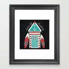 Let's Go Surfing. Framed Art Print