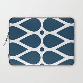 Geometric teardrop teal pattern Laptop Sleeve