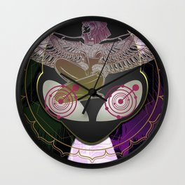 Diamond Fire Alien and the Isis Crop Circles Wall Clock