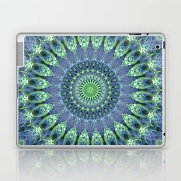 Mandala in light green and blue colors Laptop & iPad Skin