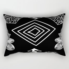 Black and White Diamonds Rectangular Pillow