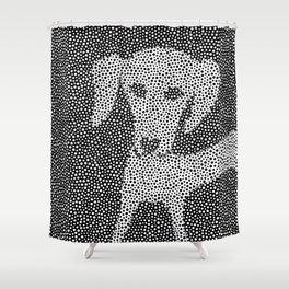 Dalma-Dach Dots Shower Curtain