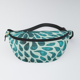 Elegant Abstract Blue Droplets Fanny Pack