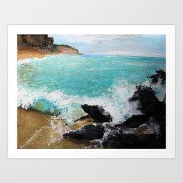 Rocky Blue Sea Art Print