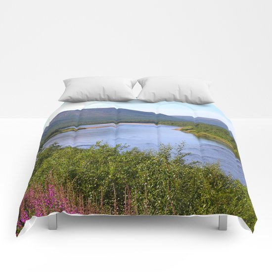 River Landscape Comforters