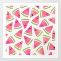 Watermelon Watercolor Pattern by lenamirisola