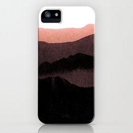 igneous rocks 3 / dusk edit iPhone Case
