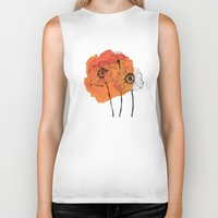 poppies Biker Tanks featuring poppies by morgan kendall