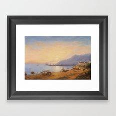 Wilhelm Brücke, The Bay of Salerno Framed Art Print
