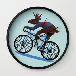 'Tis the season to be cycling Wall Clock