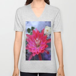 Roses Are White, Cactus is Rose... Unisex V-Neck