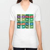 tmnt V-neck T-shirts featuring TMNT by Szoki