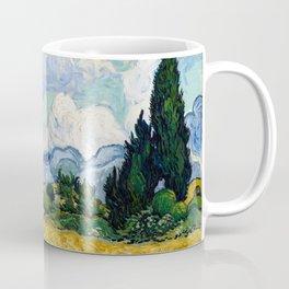 Vincent Van Gogh Wheat Field With Cypresses Coffee Mug