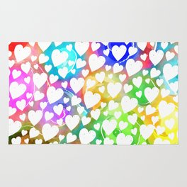Watercolour Heart Pattern Rug