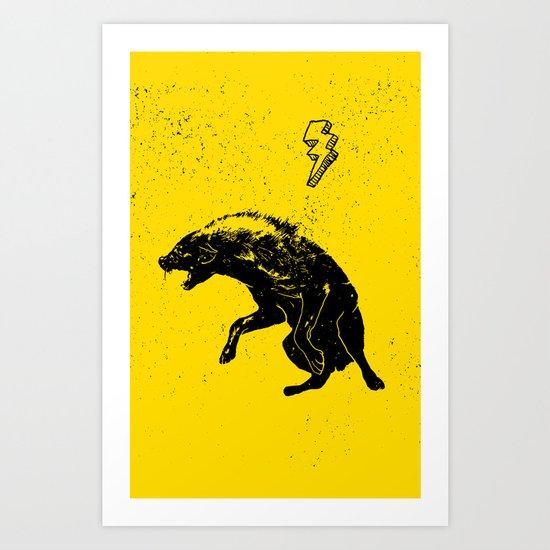 hiena Art Print