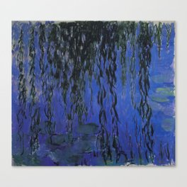 "Claude Monet ""Water Lilies and Weeping Willow Branches"", 1919 Canvas Print"