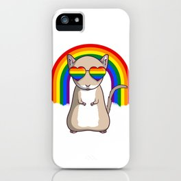 Gay Pride Gerbil LGBT Rainbow iPhone Case