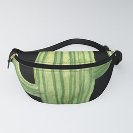 Simple Green Cactus on Black Fanny Pack