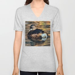 Portrait of a Pied-billed Grebe Unisex V-Neck