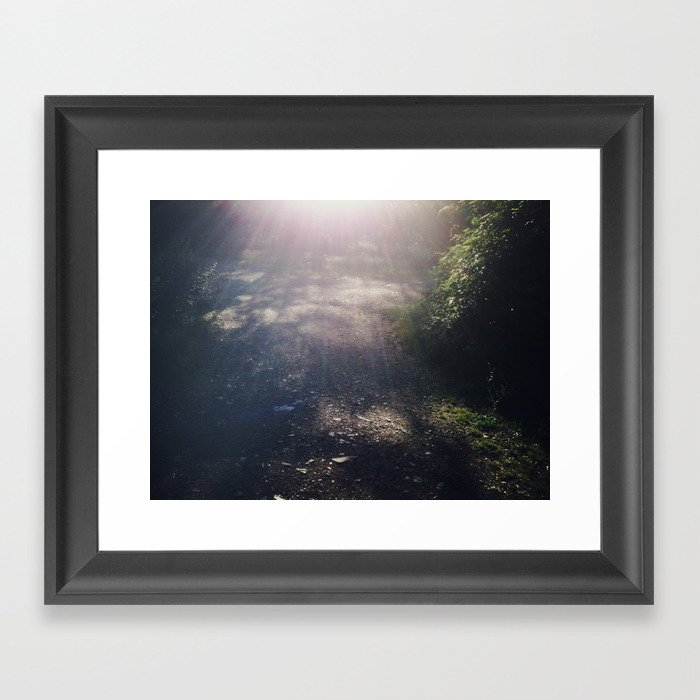 There's a light #01 Framed Art Print