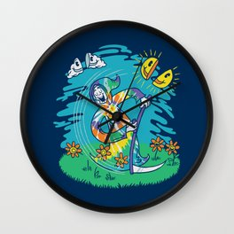 The Not-So-Grim Reaper Wall Clock