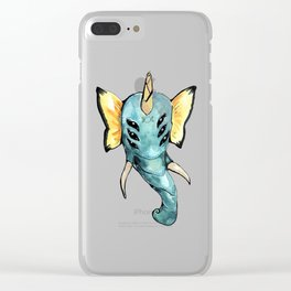 ALIEN ELEPHANT BUTTERFLY Clear iPhone Case
