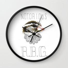 Notorious RBG (Rose-breasted Grosbeak) Wall Clock