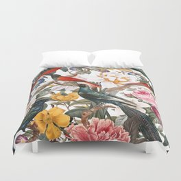Floral and Birds XXXV Duvet Cover