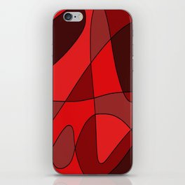 Deep Red iPhone Skin