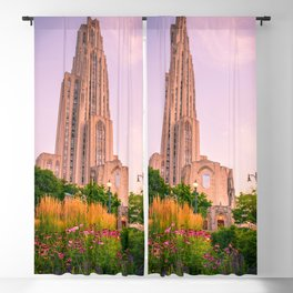 Pittsburgh Cathedral Of Learning Flower Garden Blackout Curtain