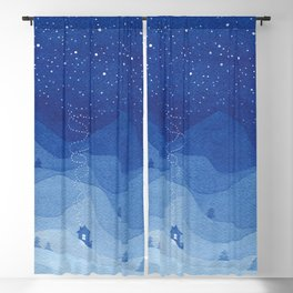 Stars factory, blue Blackout Curtain