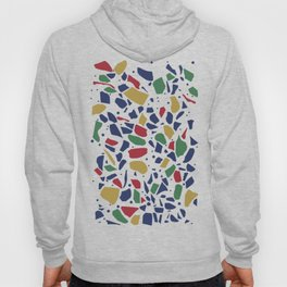 Terrazzo Spot Color on White Hoody
