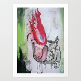 My Burning Bag Art Print